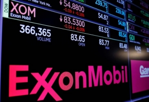 Exxon Mobil sees its stock price fall on Wall Street