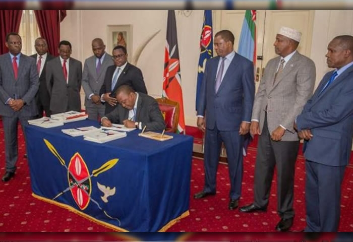 Kenyatta signs long-awaited petroleum law