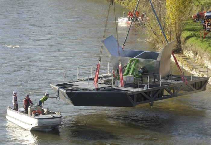 Four river turbines put in service in Lyon