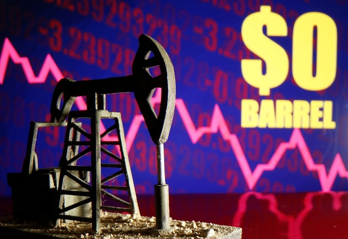 After ending in negative territory, oil prices bounce back up