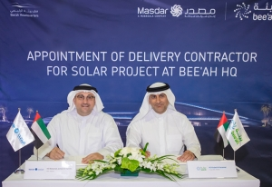 Bee'ah appoints Masdar to deploy solar energy in new HQ