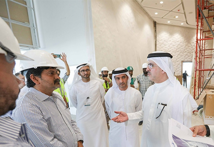 DEWA checks the site of Innovation Centre project for progress review