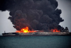 Oil tanker blaze off Hong Kong causes casualties